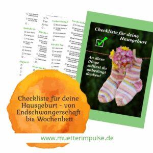 Checkliste für die Hausgeburt